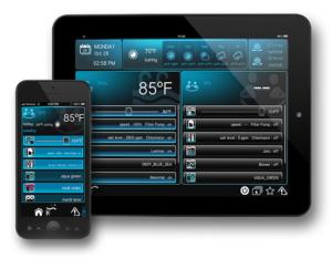 Hayward OmniLogic iPhone and iPad interface_RGB